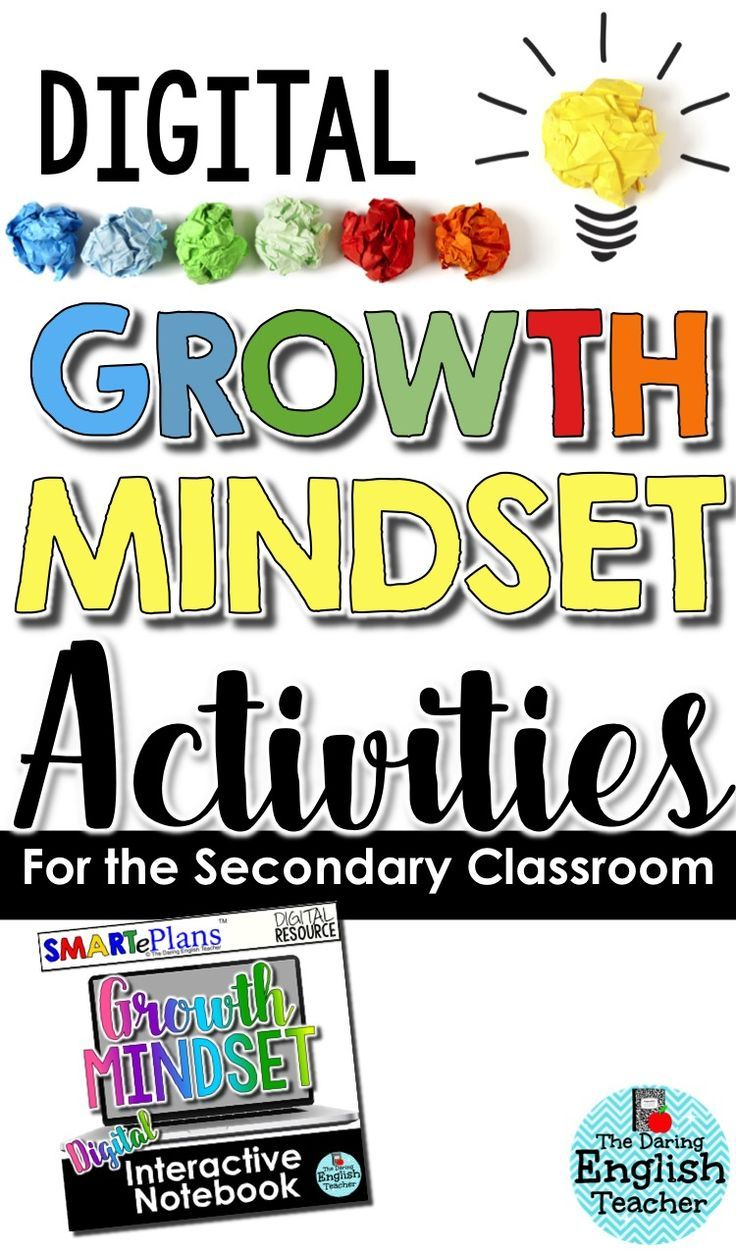 Digital growth mindset activities for the secondary classroom. Includes growth mindset classroom management forms. This is ideal for digital middle school and high school classrooms.