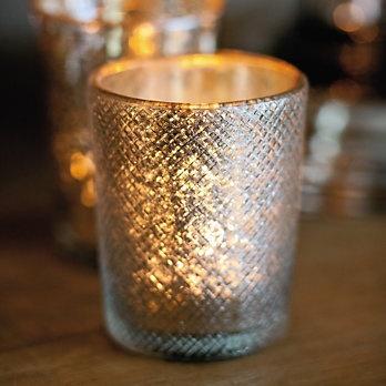 Sparkle Glass Tealight Holder