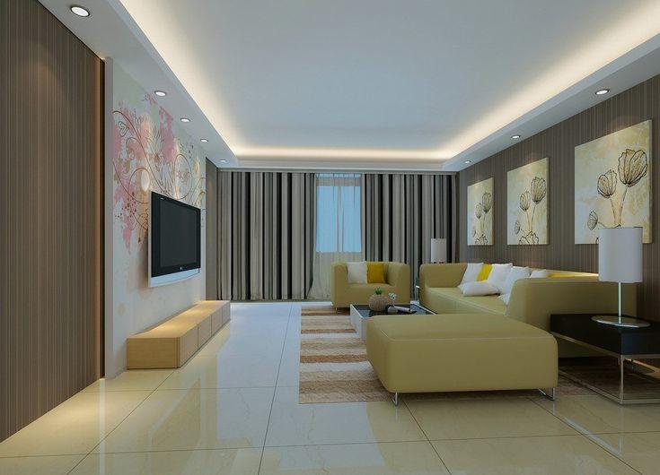 Einfache Pop Decke Designs Für Wohnzimmer Ideen Foto ...