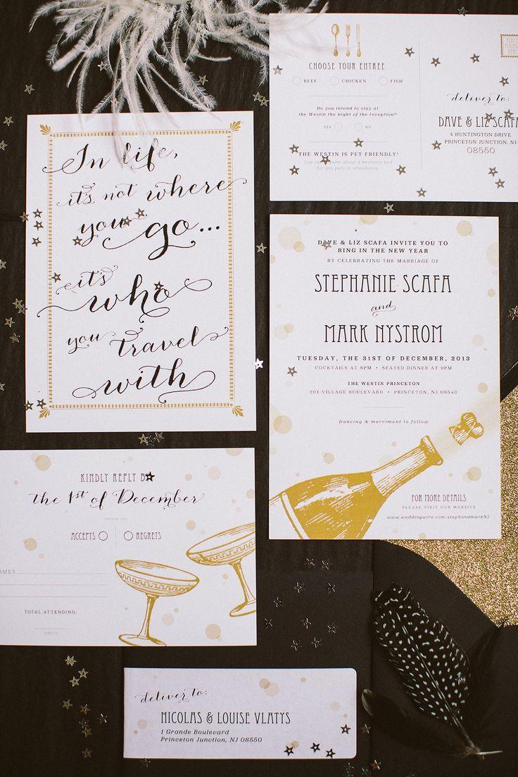 new years wedding invitation wording - 28 images - filigree chagne ...