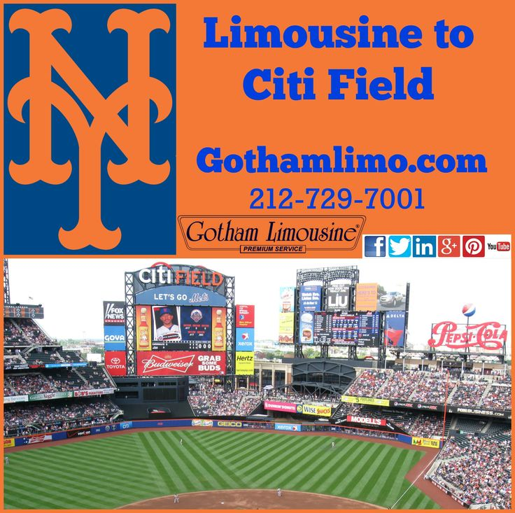 Have a great time out in your New York Mets limousine to Citi Field from Gotham Limousine in NYC. GO METS!