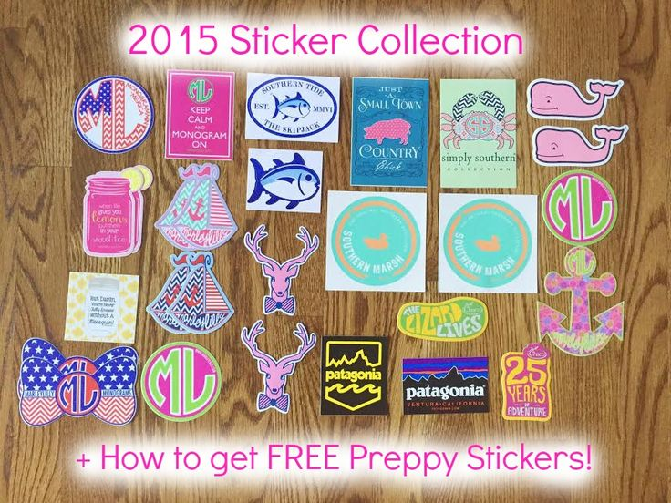 2015 Sticker Collection + How to Get FREE Preppy Stickers!!!!  Check out this blog post to find out how to get FREE preppy stickers!!!!