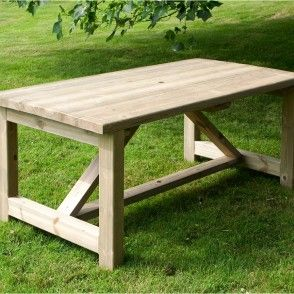 Softwood garden table