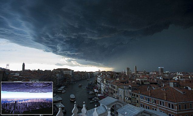 Prashant Modi...Huge storm clouds loom over Venice like a scene from Independence Day