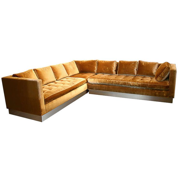 Wonderful View This Item And Discover Similar Sofas For Sale At   A Top Of The Line  Sectional Custom Sofa Upholstered In Nancy Corzine Gold Silk Velvet With  Satin ...