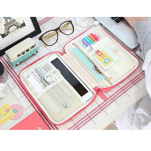 Soft Multi Pouch Ipad mini Galaxynote 8.0 case Organizer Pencilcase Travel Pouch