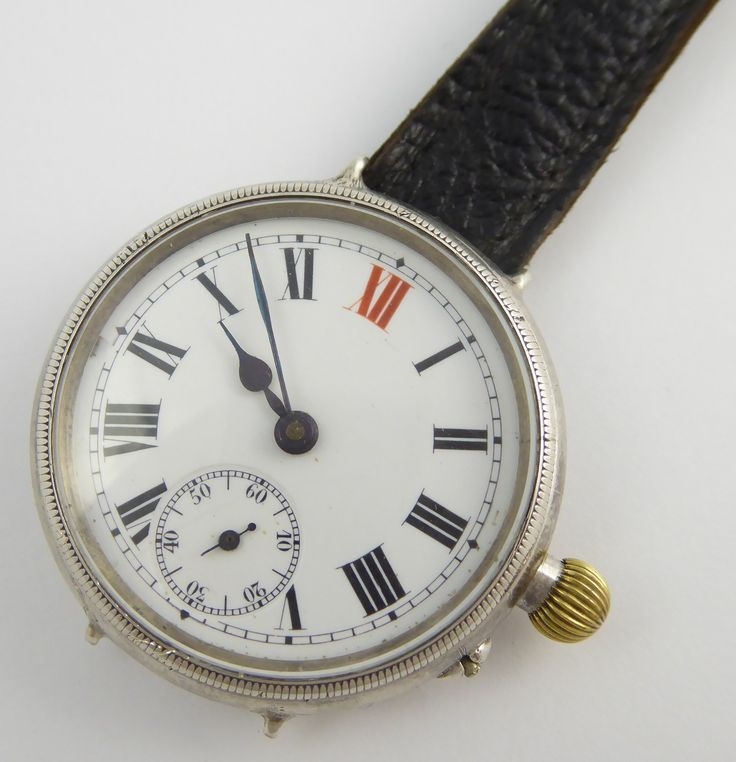 Pre WW1 Era 1912 Sterling Silver Military Trench Style Wrist Watch J W Robson Sale - The Collectors Bag