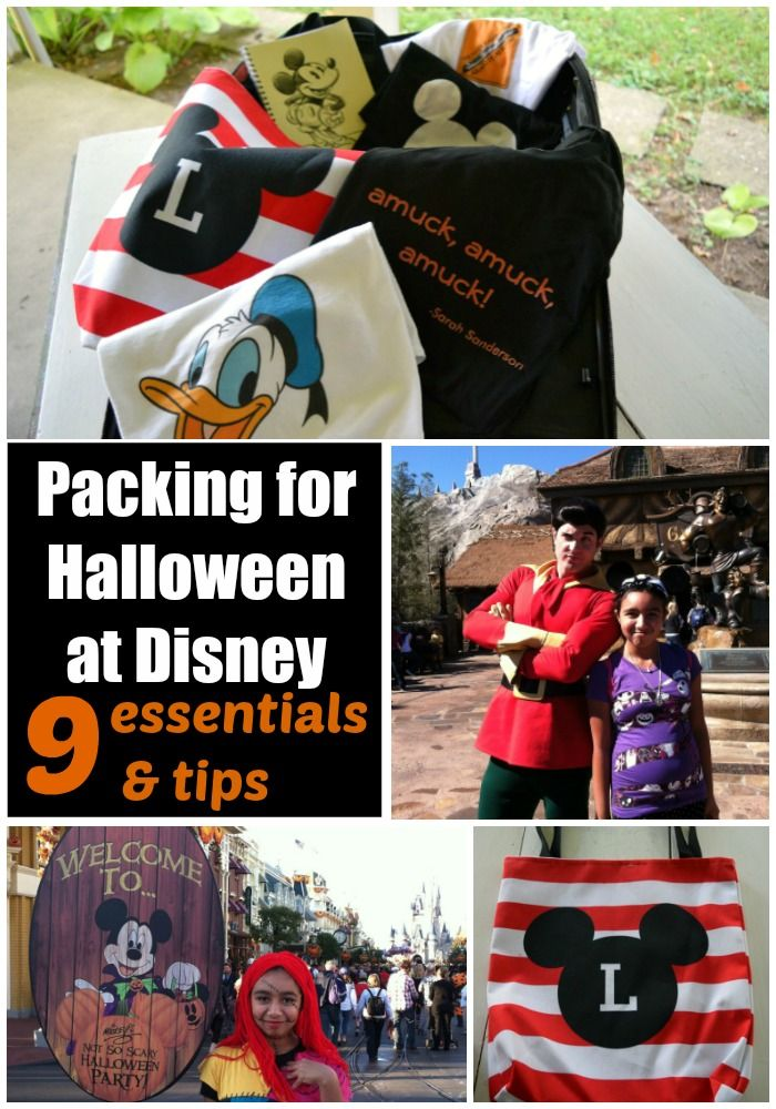 Packing for Halloween at Disney 9 essentials and tips.  Mickey's Not-So-Scary Halloween Party is so much fun!