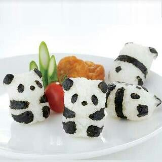 Cute Bento Rice Ball Onigiri Mold Mould With Nori Punch Sushi Panda Shape USJB