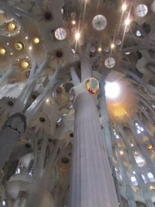 Interior canopy of La Sagrada Familia