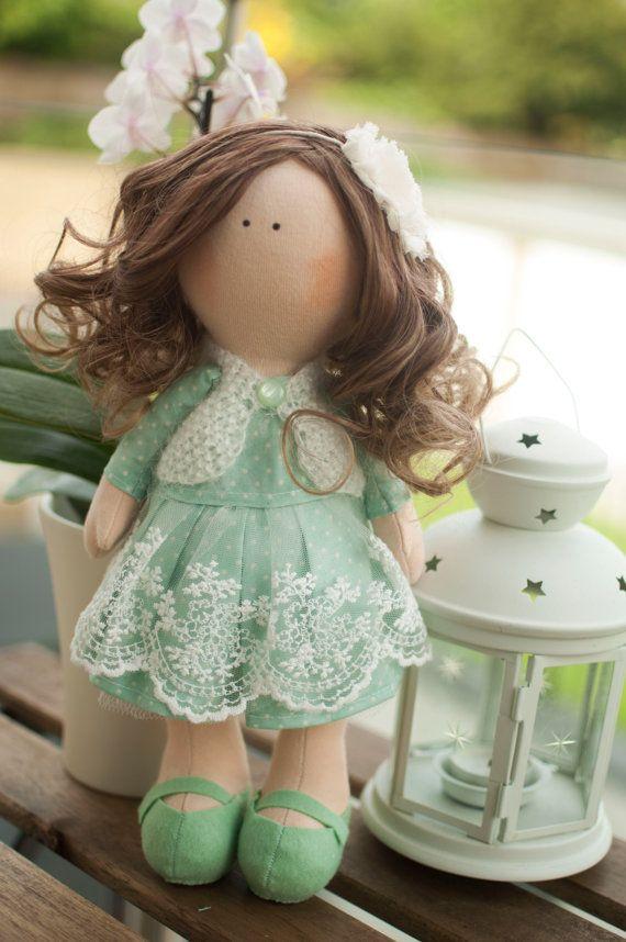 Handmade doll - Sofie, fabric doll, rag doll, best present, art doll