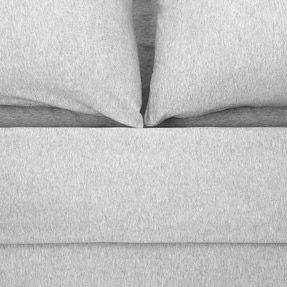 MUJI parure de lit Drap housse 160 x 200 cm Housse de couette 240 x 220 cm pas besoin des housses d'oreiller LINGE DE LIT JERSEY GRIS