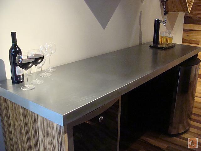 Zinc countertop guest bath pinterest countertop for Zinc kitchen countertop