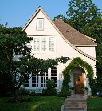Painted Brick Tudor Design Ideas, Pictures, Remodel and Decor