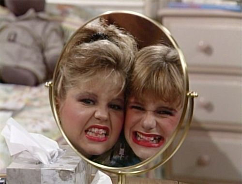 Maybe you thought once the cameras stopped rolling they'd wipe the lipstick off their teeth and part ways. | Kimmy Gibbler And DJ Tanner Will Always And Forever Be.. BFFs... @Jenna Green <3