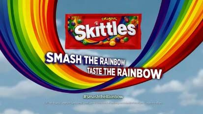 I love this graphic design advertisement! I admire every advertisement skittles come up with.