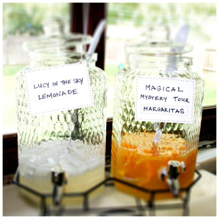 beatles birthday party!  lucy in the sky lemonade & magical mystical margaritas! yum.