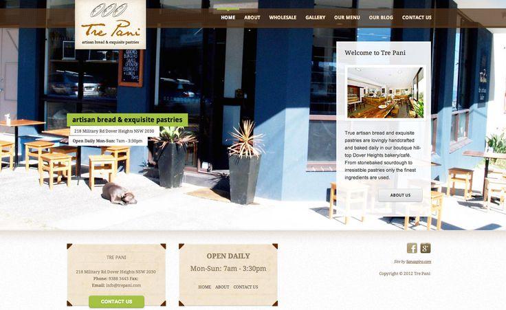 Tre Pani Bakery Website by Liana Spiro Creative Clarity