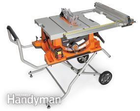 Portable Table Saw Reviews   The Family Handyman