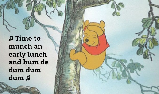 The Many Great Moments From The Many Adventures of Winnie the Pooh   When Pooh hums a little hum #Pooh