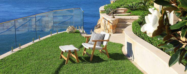 Garden Chair and Ottoman
