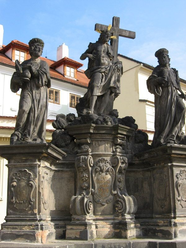 Photos of Charles Bridge North Side Statues: Christ Between Saints Cosmas and Damian