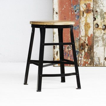 Scaffold Cafe Stool Black, $125, now featured on Fab. [Michael Perry, Walk The Plank]
