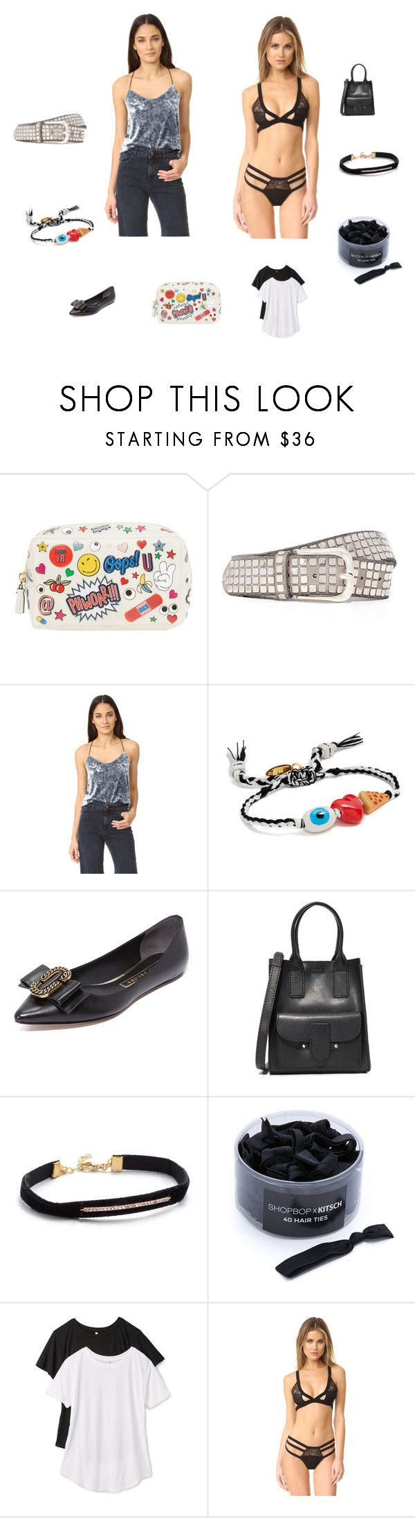 """Your style"" by jamuna-kaalla ❤ liked on Polyvore featuring Anya Hindmarch, B. Belt, Only Hearts, Venessa Arizaga, Marc Jacobs, Frye, Shashi, Kitsch, Z Supply and Honeydew Intimates"