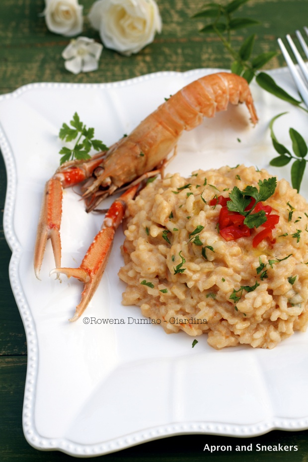 Risotto alla Crema di Scampi from @Rowena Dumlao Giardina | Apron and Sneakers