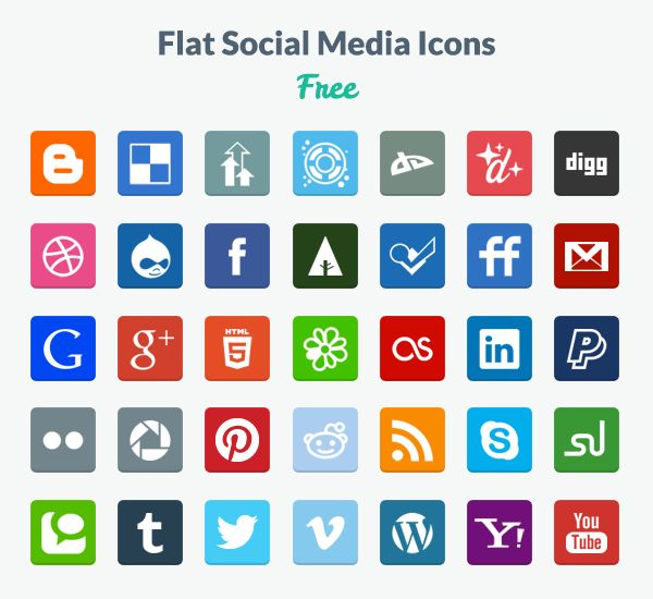 We find ourselves more often than not in a situation where we create wireframes or prototypes and need some placeholders for free social media icons, or we simply need some other type of icons for any other graphical tasks. While it is also easy enough to find new ones on Google, we thought of putting together a showcase for you with the ones we believe are best.