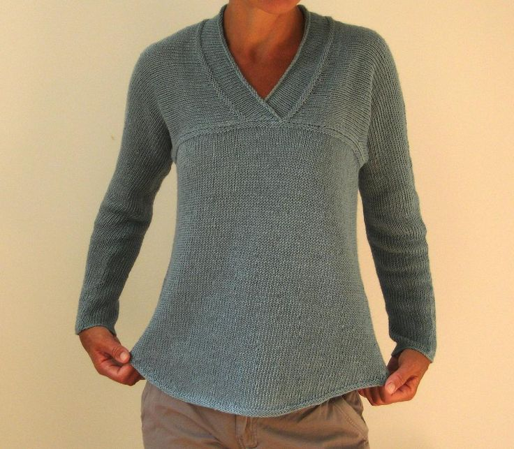 A comfortable shirt that can be knit in linen or any light dk or sport weight yarn that works at the noted gauge. Suitable for a knitter with some experience. The yoke is worked sideways from the center back to the ends of the sleeves, and the body stitches are picked up directly from the yoke, and worked top down, so you can easily adjust the length or fit (e.g. add waist shaping) if you like. The pattern includes detailed instructions and diagrams that guide you through the construction…