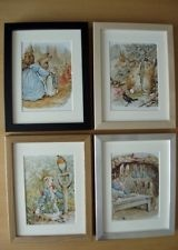 4 Beatrix Potter nursery pictures PETER RABBIT SET 3