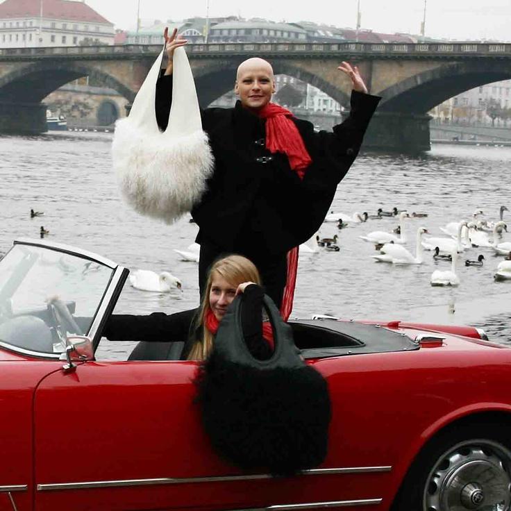 Handbags from Francoarazzi - white Ovale and black Pendollo