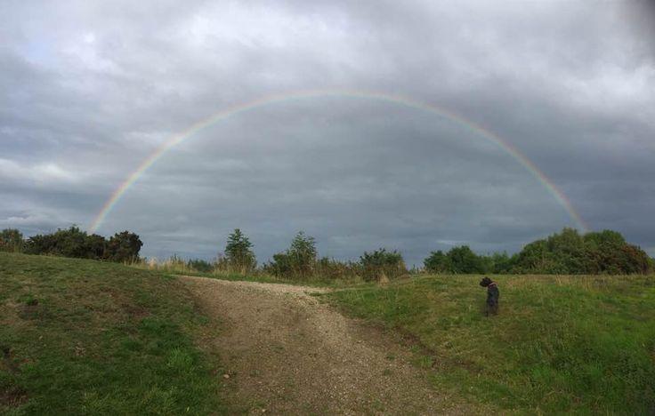 Rainbow on the #malvernhills