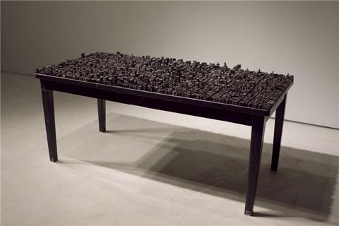 Metal type cityscape by New York artist Hong Seon Jang - it's a thing of beauty!