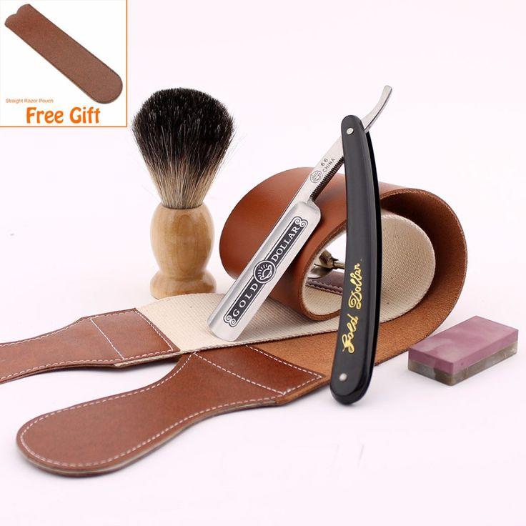 Epic Beard Kit 2.5: Premium Classic Wet Shaving Set Straight Razor Leather Strap Badger Brush Sharpening Stone