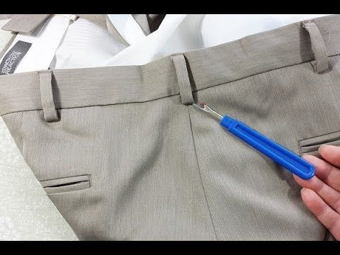 Take In Or Let Out Men's Pants - You won't believe how easy it is to adjust men's pants waists.  If only the manufacturers would make women's pants waists this easy.  Learn the secret!