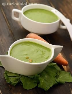 Rich and luscious, this soup is a treat to the palate! What makes it a marvelous Vision Soup is the combination of nutrients like vitamins A, E, and iron. The protein in milk works hand-in-hand with the vitamin A to further boost your vision. Enjoy this deliciously creamy carrots, spinach and onion soup fresh off the stove.