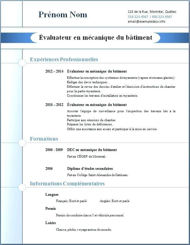 11 Exemple De Cv Suisse Exemple Motivation