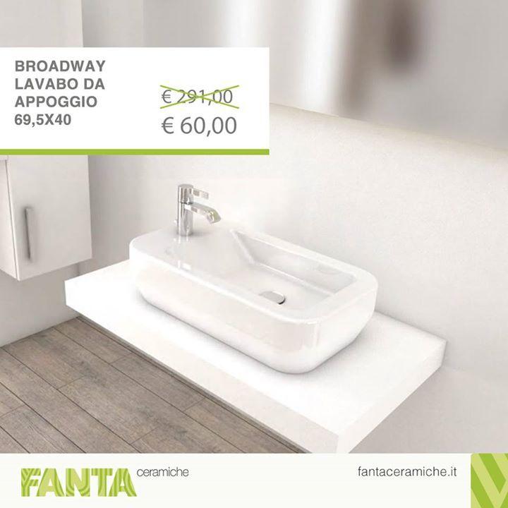 #OffertaDellaSettimana  Scopri tutta l'eleganza del #lavabo d'appoggio rettangolare Broadway.   Tuo ad un prezzo specialissimo  http://ift.tt/2xtk16H  #Fantaceramiche #Arredamento #Bagno