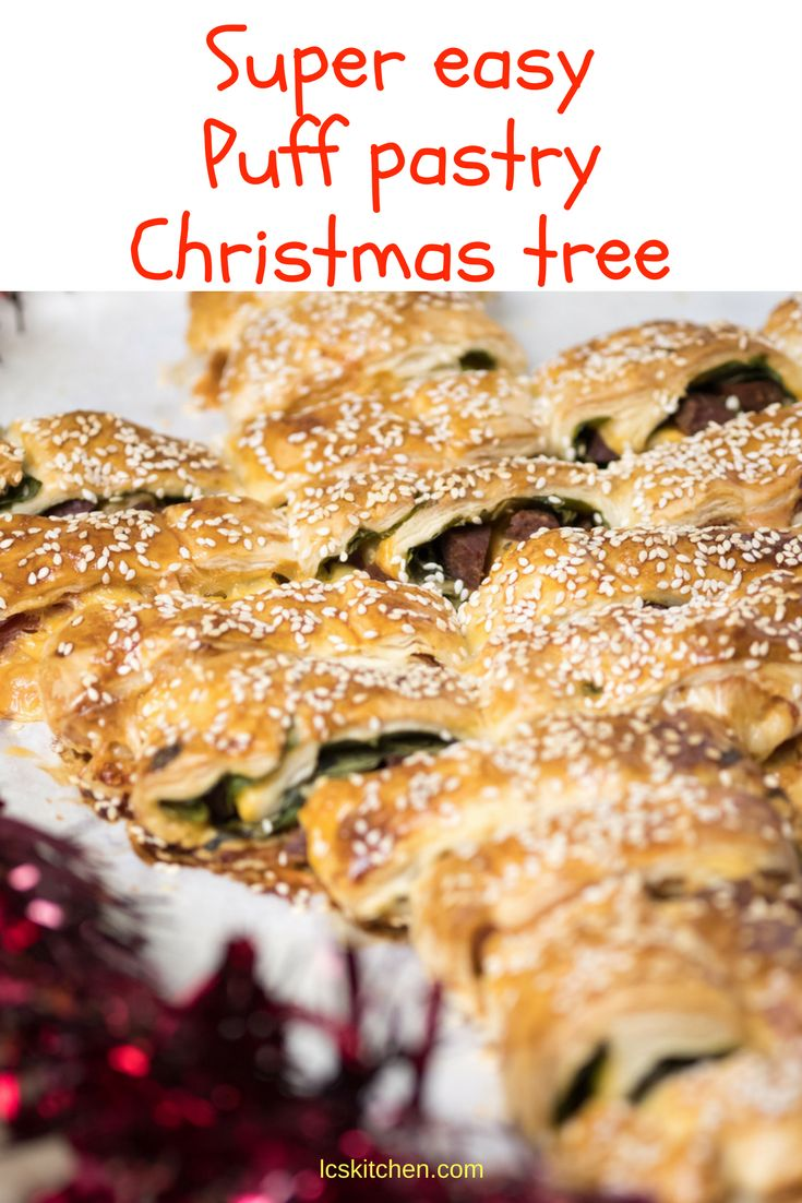 Puff Pastry Christmas Tree: the best appetizer for Christmas #christmas #christmasrecipes