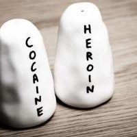 Heroin and Cocaine Salt and Pepper Shakers - David Shrigley- Shop - Third Drawer Down (lol)