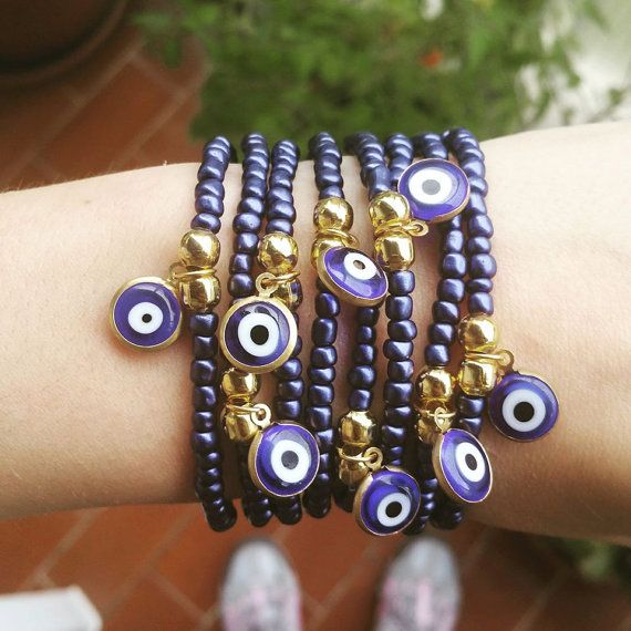 Hey, I found this really awesome Etsy listing at https://www.etsy.com/pt/listing/243861443/beaded-bracelets-blue-evil-eye-blue