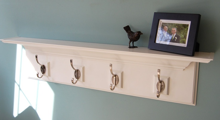 Decorative Wall Shelf With Hooks Mantle Rack : Best images about diy on felt flowers