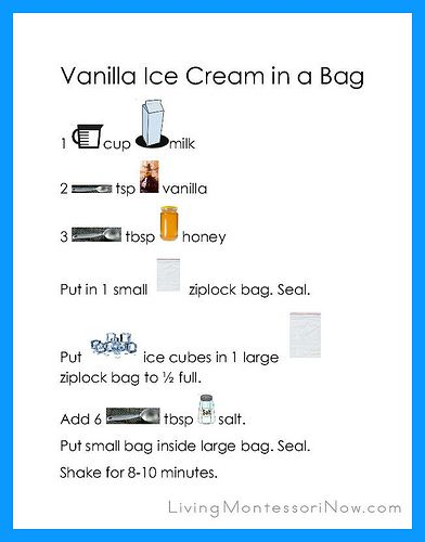 Vanilla Ice Cream in a Bag Recipe Page