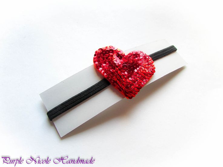 Lovely 2 - Handmade Sequins Heart Hair HeadBand by Purple Nicole (Nicole Cea Mov).