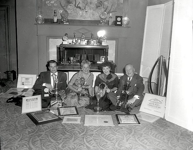 The Foursome and Their Awards (Desi Arnaz, Vivian Vance, Lucille Ball, William Frawley)
