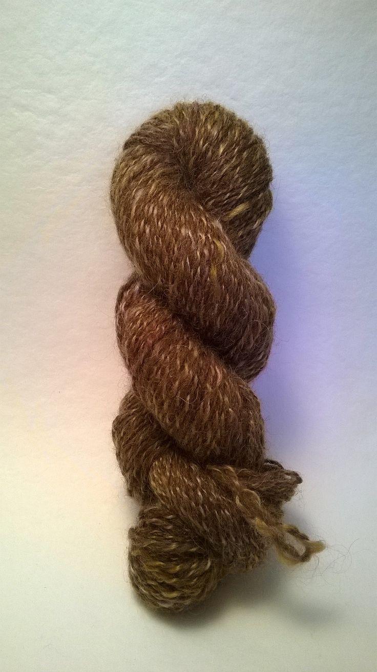 écheveau de laine shetland et de mohair avec une pointe de glitz : Mercerie par atelier-colpin
