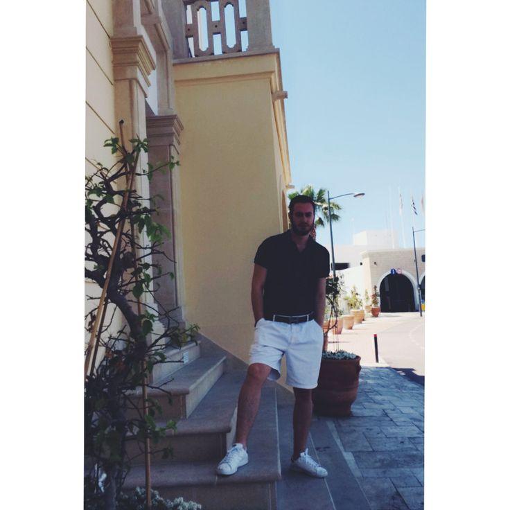 Summer Look by Official ✖️✖️✖️Wearing Ralphlauren t-shirt Lacoste And Hermes Belt