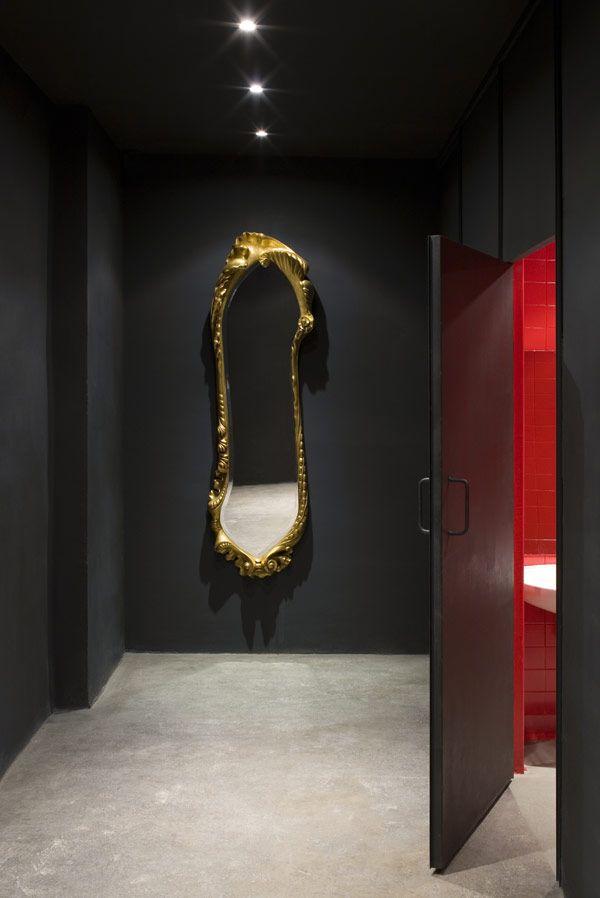 Black And Gold Red Interior Design Home Decor